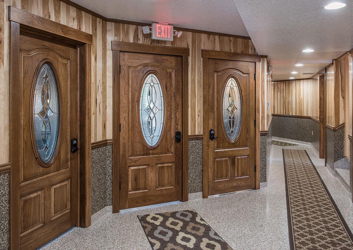 ... Neuenschwander 3 Interior Doors With Decorative Glass ...