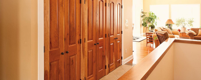 Neuenschwander Rustic Cherry Arch Top Raised Panel Interior Doors