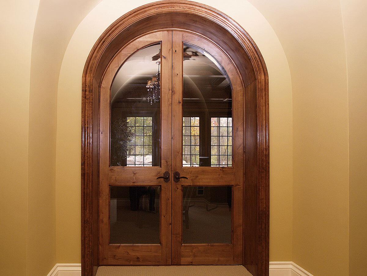 ... Neuenschwander Knotty Alder Round Top Beveled Glass Interior Doors ... & Interior u0026 Exterior Doors | Neuenschwander Doors