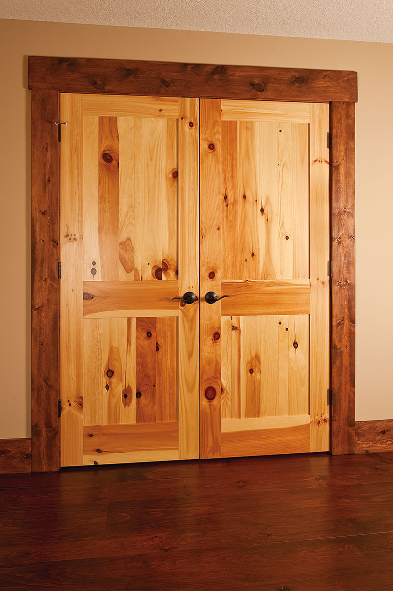 ... Neuenschwander Knotty Pine 2 Panel Flat Interior Doors ...