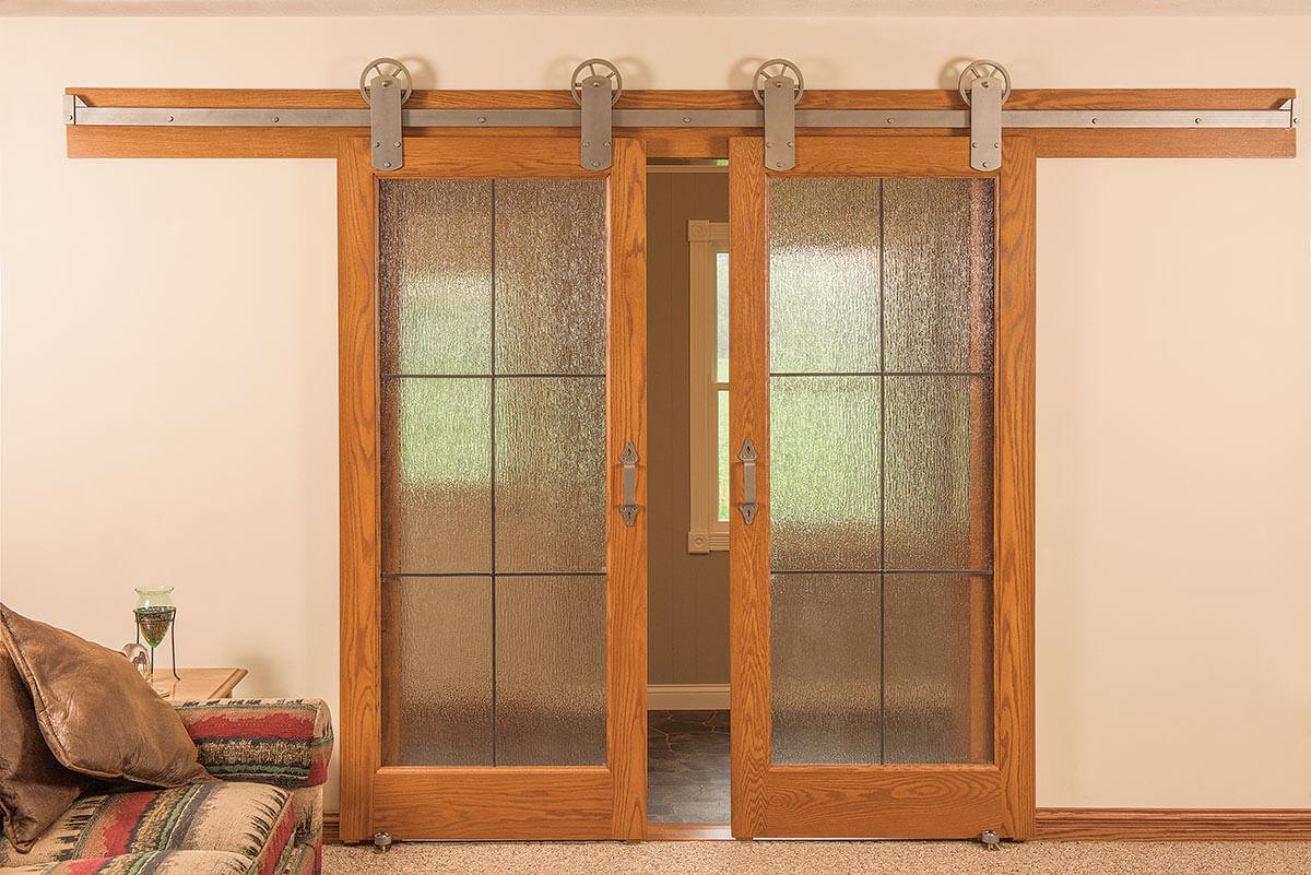 Interior exterior doors neuenschwander doors neuenschwander red oak 6 lite leaded rain glass interior doors eventelaan Choice Image