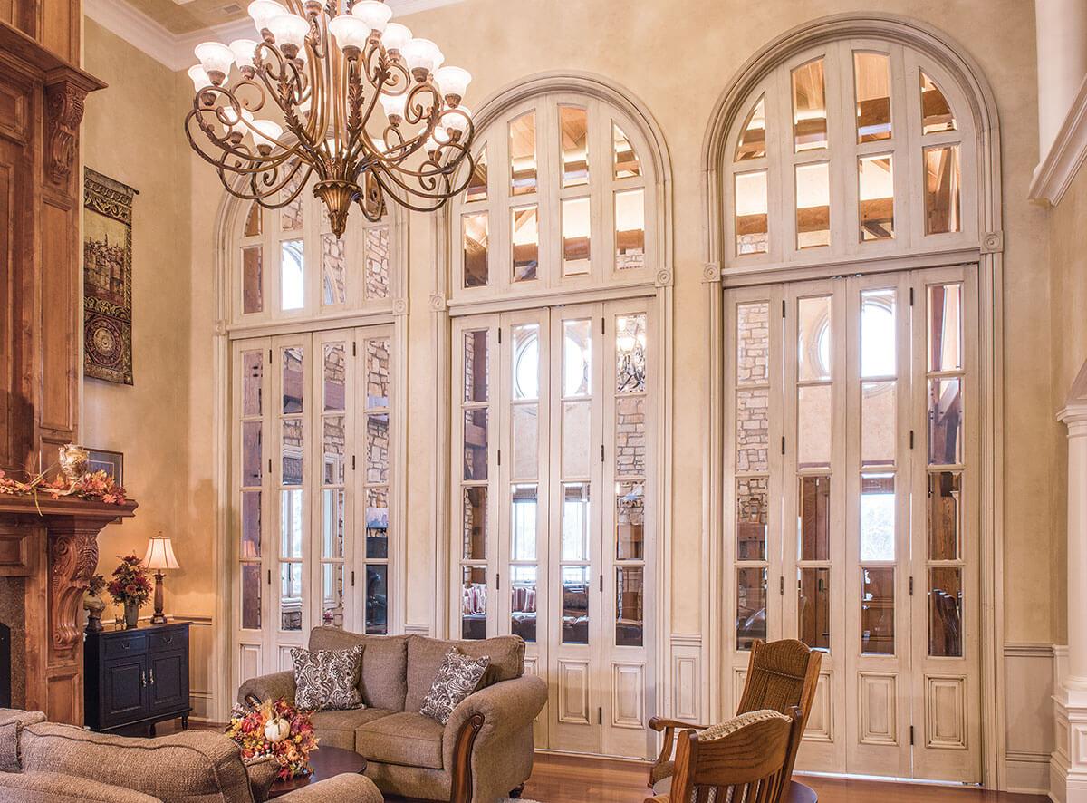 Interior glass bifold doors -  Neuenschwander Soft Maple Bifold Beveled Glass Interior Doors Hinge Side