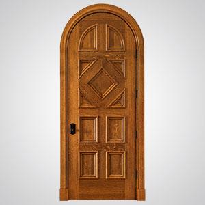 ... Neuenschwander Quarter Sawn White Oak 11 Panel Round Top Applied  Moulding Interior Door ...