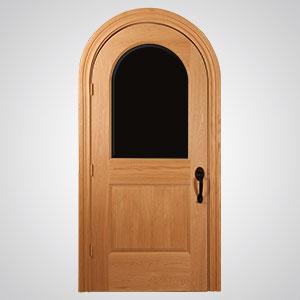 ... Neuenschwander Unfinished Red Oak Round Top Interior Door ...